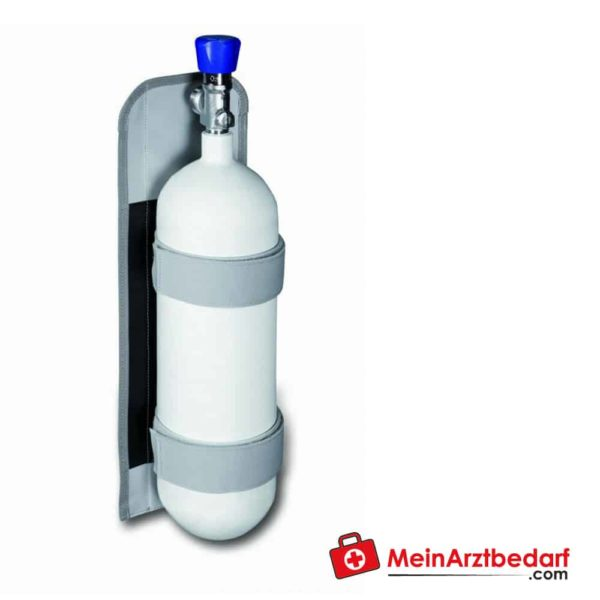 With the oxygen holder for small oxygen bottles, the oxygen bottle can be made mobile as quickly as possible in an emergency.