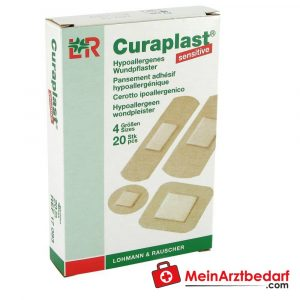The Curaplast Sensitive Strips wound patches are used to treat minor injuries in everyday life.