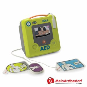 The inch AED 3 defibrillator is a semi-automatic device with audio-visual display.