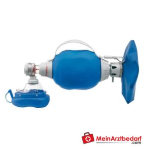 The Ambu Mark 4 adult ventilator bag has a manometer connection for a comprehensive overview of the ventilation measures.