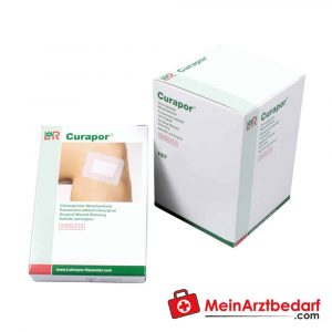 The Curapor surgical wound dressing is sterile and is used to treat postoperative wounds.