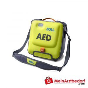 The ZOLL AED 3 carrying bag for the defibrillator protects it from contamination.