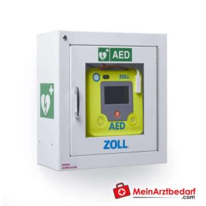 The inch AED 3 wall mount for the defibrillator with integrated alarm device offers the possibility to store the defibrillator securely.