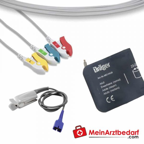 The accessory set for Vista 120 S is suitable for the Dräger Vista 120 S patient monitoring.